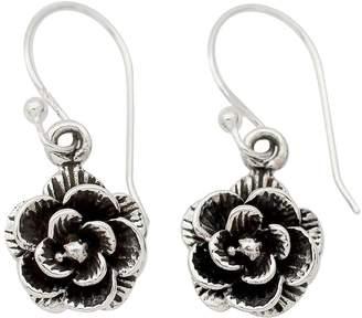 """Novica Artisan Crafted Sterling """"Rose Garden"""" Earrings"""