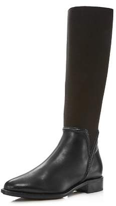 Aquatalia Women's Nanina Leather & Stretch Riding Boots