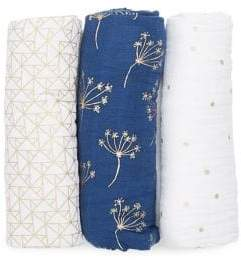 Aden Anais Baby's Three-Pack Printed Classic Cotton Swaddle Set