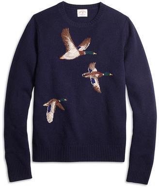 Duck Intarsia Crewneck Sweater $148 thestylecure.com