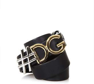 Dolce & Gabbana #d&g Black Leather Belt