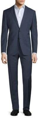 Calvin Klein Slim-Fit Mini Windowpane Wool Suit