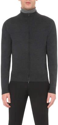 John Smedley Zipped merino wool cardigan