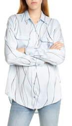 Equipment Slim Signature Print Silk Blend Shirt