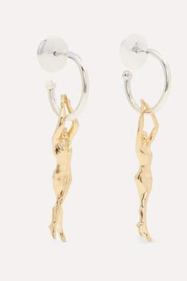 Paola Vilas - René Silver And Gold-tone Hoop Earrings