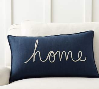 Pottery Barn Home Sentiment Lumbar Pillow Cover