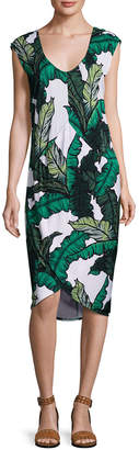 Tracy Reese Shirred Cocoon Midi Dress