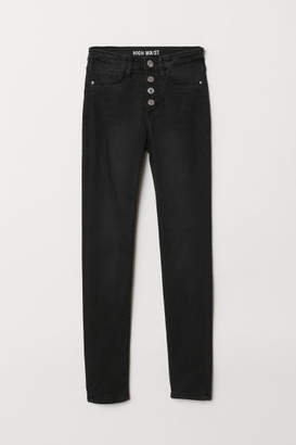H&M Skinny Fit High Jeans - Black