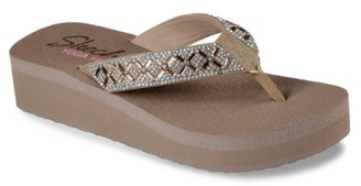 Skechers Cali Vinyasa Lotus Princess Wedge Flip Flop