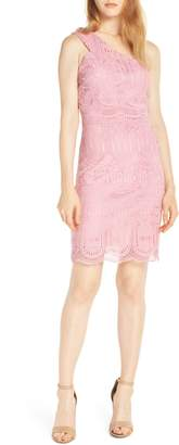 NSR Grace One-Shoulder Lace Sheath Dress