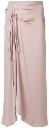 Marni asymmetric tied skirt