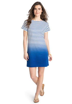 Vineyard Vines Dip Dye Stripe T-Shirt Dress