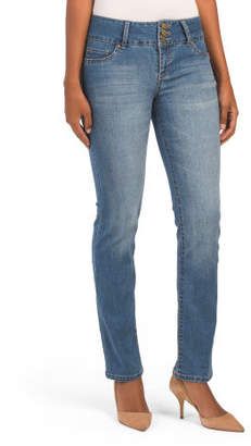 High Waist Triple Button Jeans