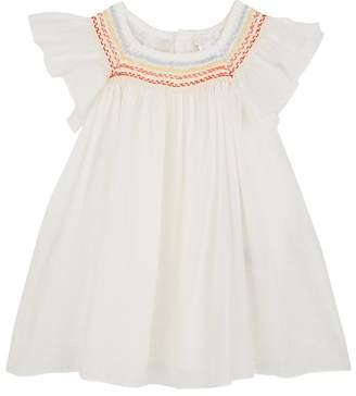 Chloé INFANTS' COTTON VOILE SMOCKED TOP & BLOOMERS SET