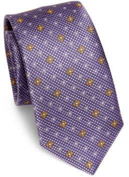 Saks Fifth Avenue COLLECTION Flower-Dotted Silk Tie