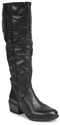 Timberland Round Toe Leather Knee-High Boots