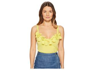 Moschino Stretch Viscose Sleeveless Blouse with Bow Applications Women's Blouse
