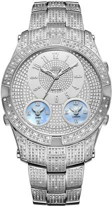 JBW Men's J6348B Jet Setter III 1.50 ctw Stainless Steel Diamond Watch