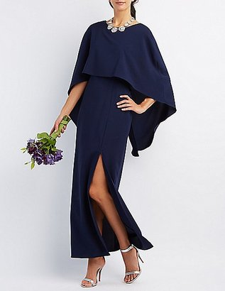 Backless Caped Maxi Dress $42.99 thestylecure.com