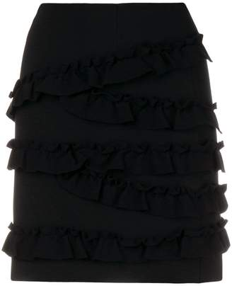 Twin-Set ruffled mini skirt
