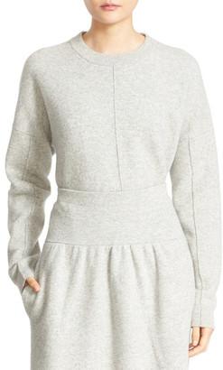 JOSEPH Boiled Wool Crewneck Sweater $375 thestylecure.com