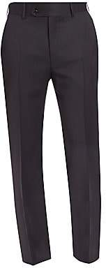Canali Men's Flat-Front Wool Trousers