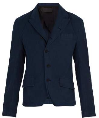 Haider Ackermann Single Breasted Cotton Blazer - Mens - Blue