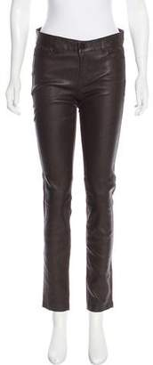 Vince Mid-Rise Leather Pants