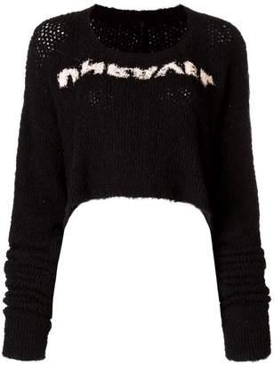 Unravel Project Unravel slogan cropped jumper