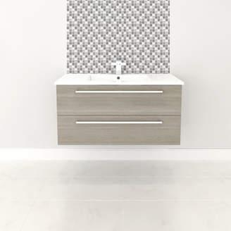 "Cutler Kitchen & Bath Silhouette 36"" Single Bathroom Vanity Set Base"