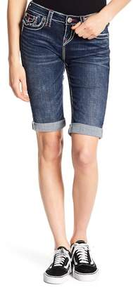 True Religion Knee Length Rolled Cuff Shorts