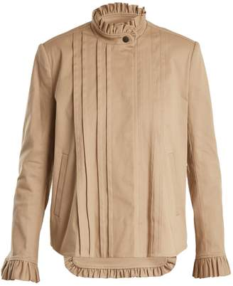 Preen Line Jessie frill-trimmed stretch-cotton jacket