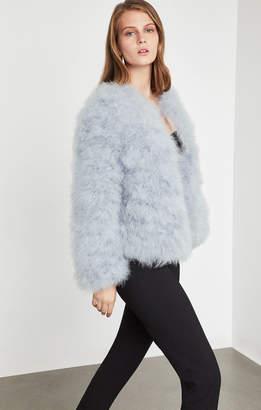 BCBGMAXAZRIA Zoey Ostrich Feather Jacket