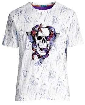 Robert Graham Snake Skull Cotton T-Shirt