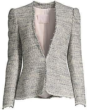 Rebecca Taylor Women's Puff Sleeve Tweed Jacket - Size 0