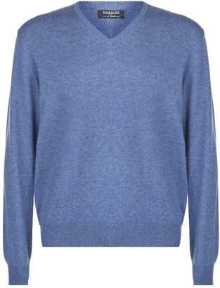 Harrods V-Neck Cashmere Sweater