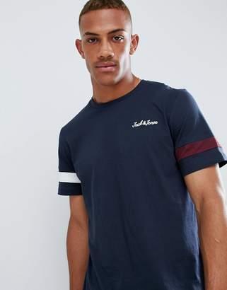Jack and Jones Originals T-Shirt With Pique Arm Stripe