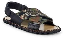 Valentino Embroidered Guitar-Strap Sandals