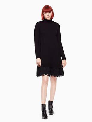 Kate Spade Lace inset sweater dress