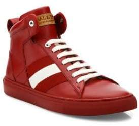 Bally Hedern Leather High-Top Sneakers