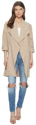 BB Dakota Abreila Drape Front Coat Women's Coat