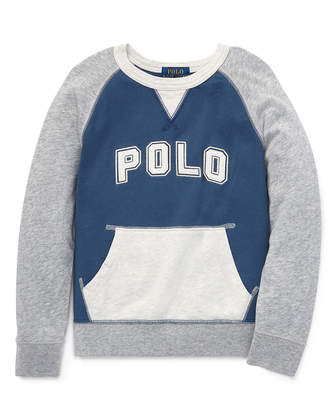 Ralph Lauren Childrenswear Colorblock Knit Logo Top, Size 5-7