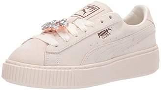 0f5590c9455c84 Puma Women s Suede Platform Gem Sneaker Whisper White