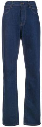 Calvin Klein Jeans high rise panel rinse jeans