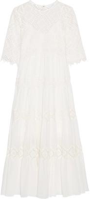 Zimmermann - Oleander Diamond Lace Cotton-voile Dress - Ivory $895 thestylecure.com