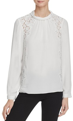 Rebecca Taylor Georgette and Lace Top $395 thestylecure.com