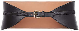 BCBGMAXAZRIA Faux-Leather Whipstitch Waist-Belt