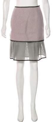Rochas Flared Tweed Skirt