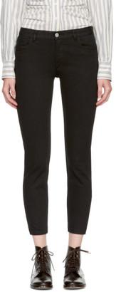 A.P.C. Black Étroit Court Jeans $210 thestylecure.com