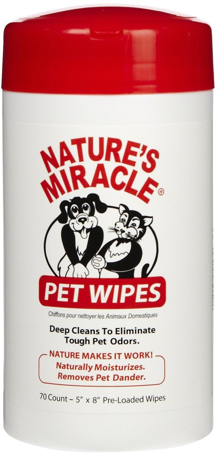Nature's Miracle Bath Wipes - 70 Count